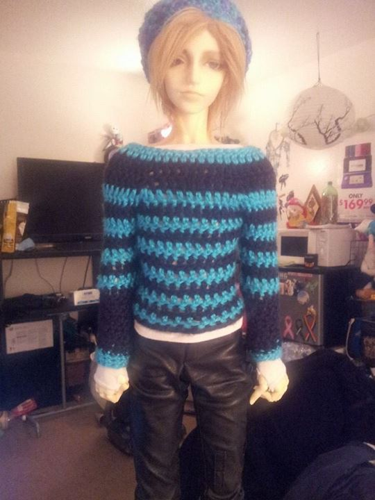 Doll Sweater Bjd Crochet By Littlemissgasmask On Deviantart