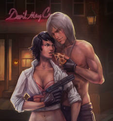 Dante and Lady by Enawarm