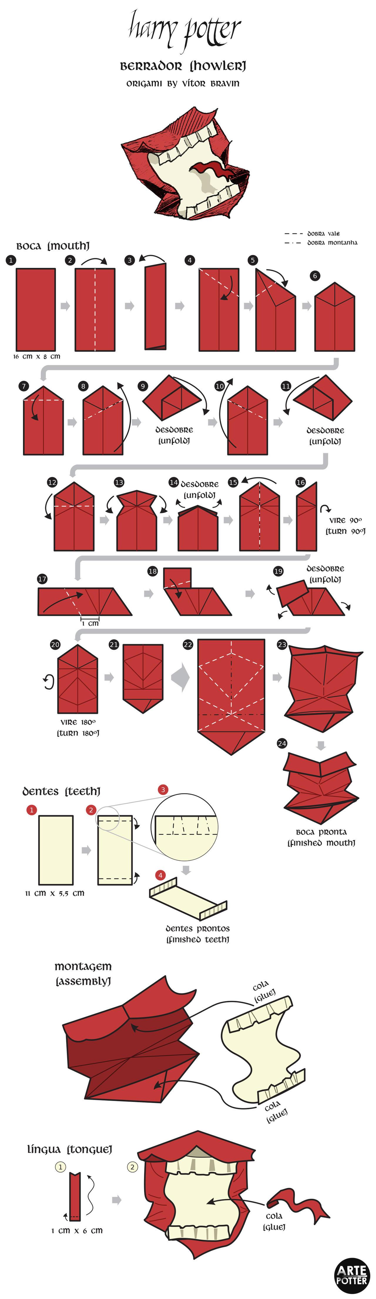 Harry Potter Origami | 4416x1280