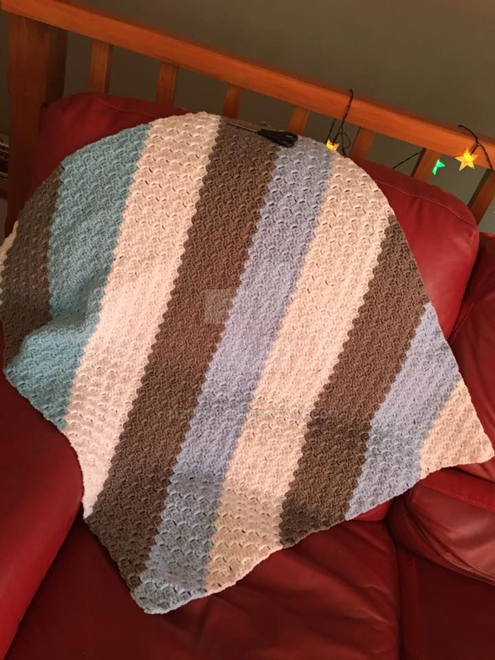 Baby Boy crochet blanket by MzHunni