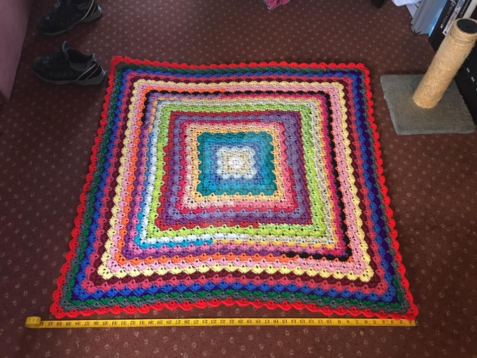 My Current WIP blanket   Beautiful Shell blanket by MzHunni