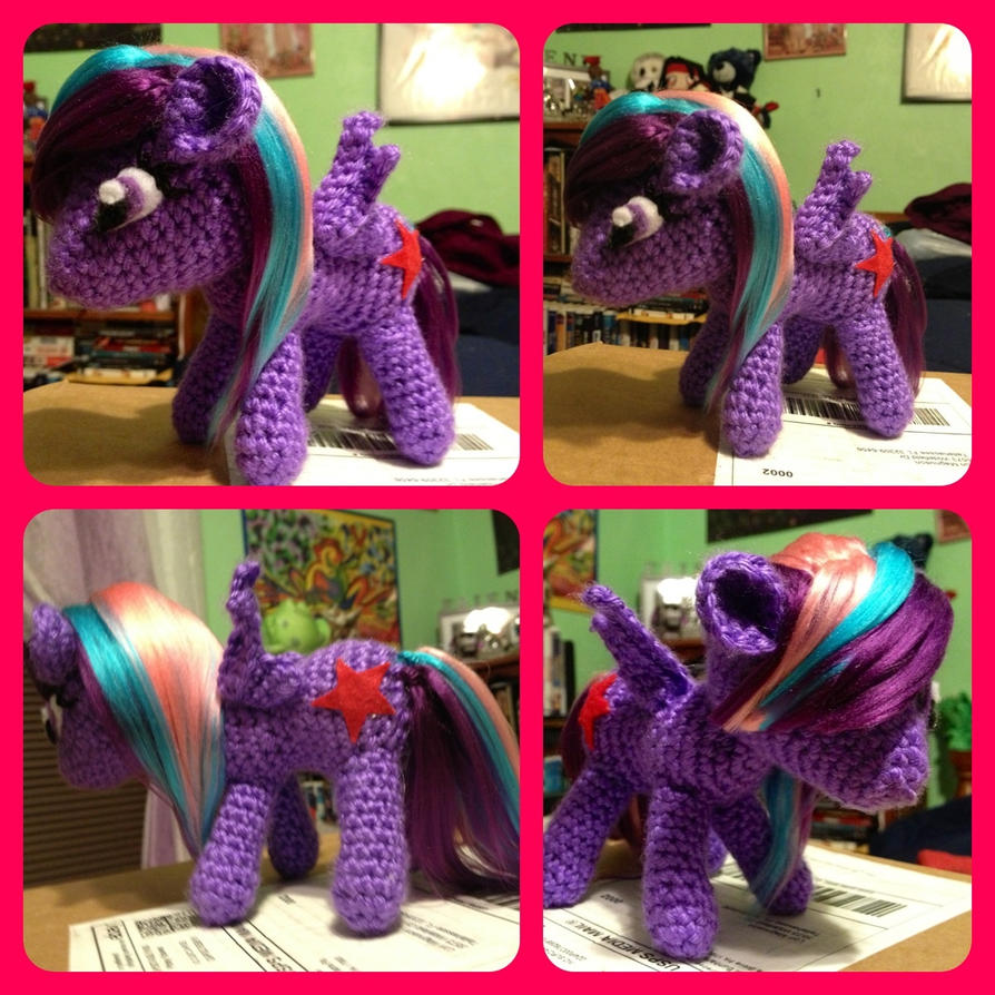 Amigurumi Pony : Custom my little pony FiM pony plush amigurumi by magpie89 ...