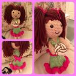 Volleyball girl amigurumi doll commission