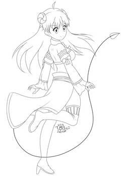 Inktober 2nd - Yoshida Yuuko
