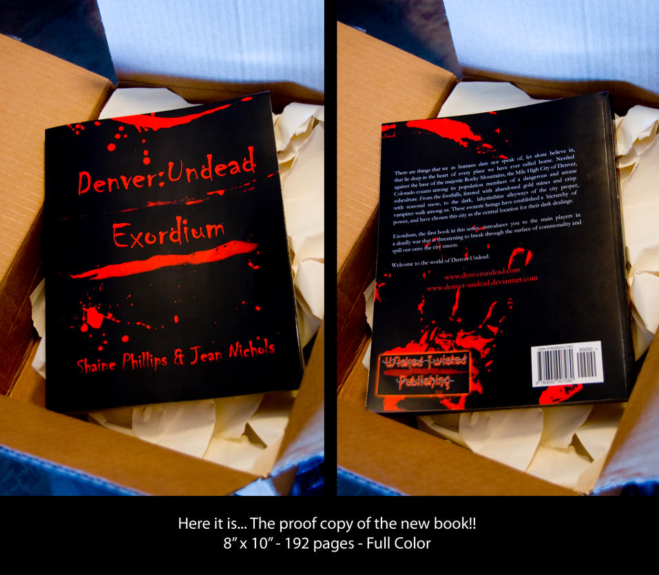 Proof Copy of the new book... by Denver-Undead