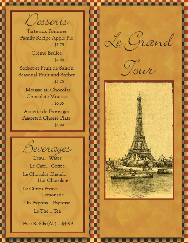 French Menu Front And Back By Bacnbittz On Deviantart