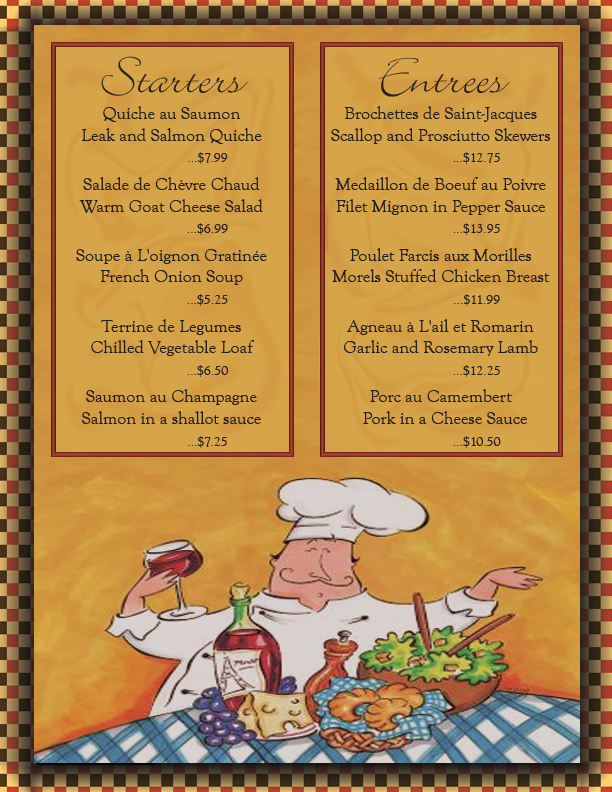 French Menu Inside By Bacnbittz4 On Deviantart