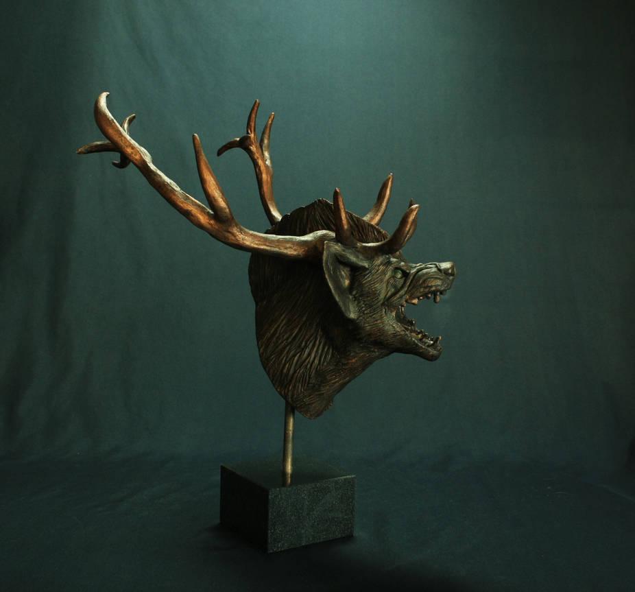 Iarann Poc-The Blackthorn Stag bust by TheBlackthornStag