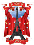 A Night in Paris with Curtain