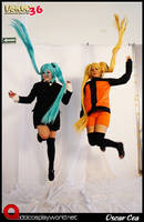 Miku and Naruto by FanychanCosplay