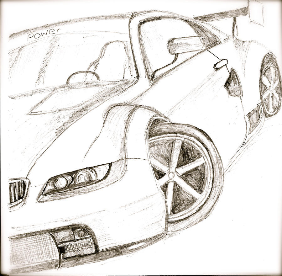 sports car drawing by melissagoddard - Easy Sports Drawings