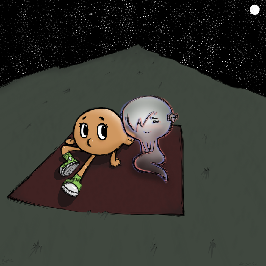 Darwin and Carrie Stargazing by Kozmo-Khaotic