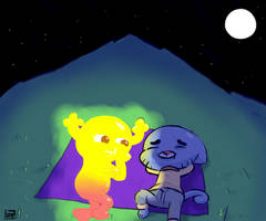 Penny and Gumball Stargazing