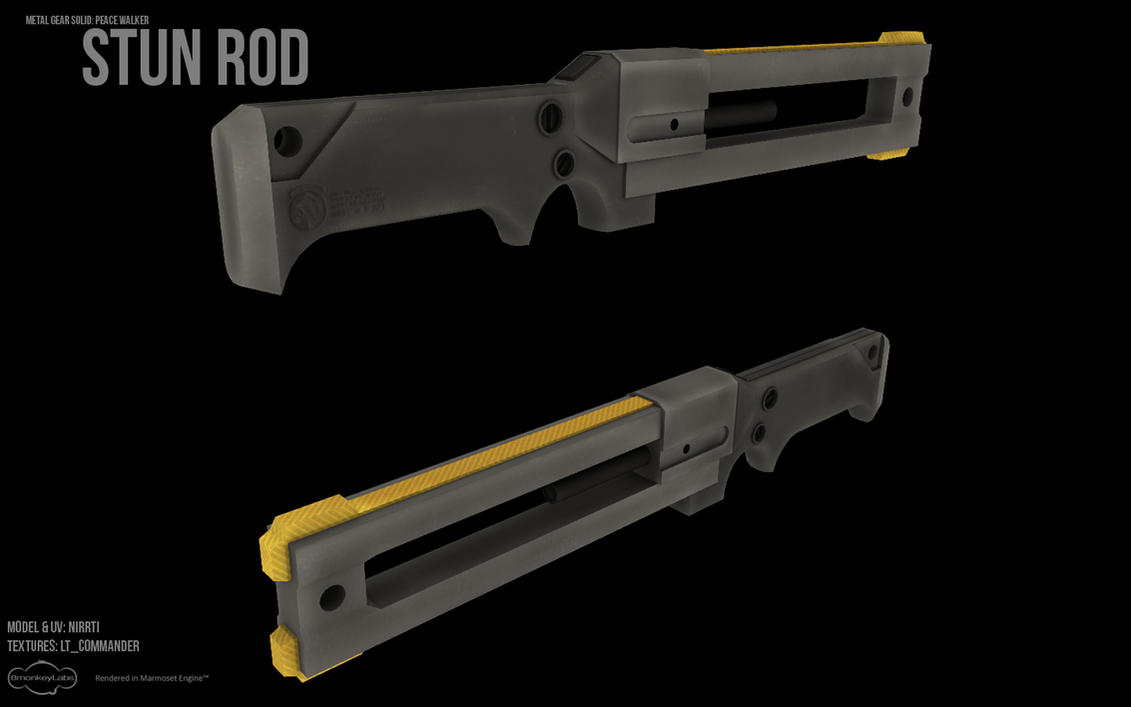 MGS:PW Stun Rod with Textures by Nirwrath