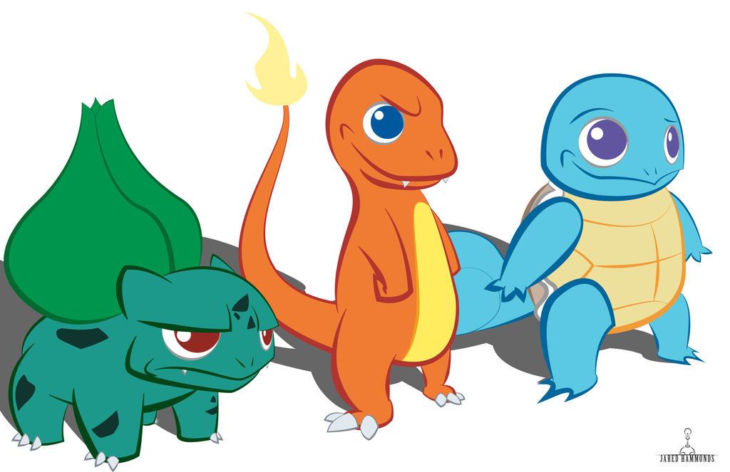 Pokemon Kanto Starters Pokemon Images   Pokemon Images