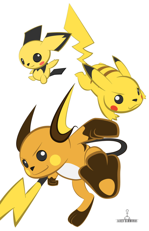 Pikachu Evolution Line by JaredHammonds on DeviantArt