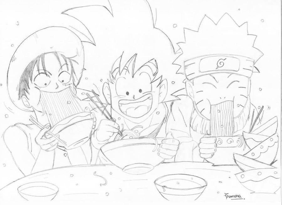 Luffy Goku y Naruto by TamarayGisela on DeviantArt