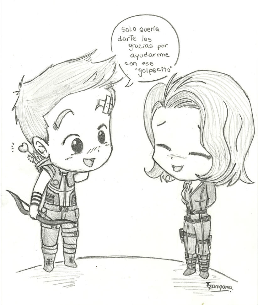 Clintasha - Hawkeye and Black Widow by TamarayGisela on DeviantArt