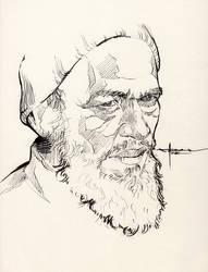 Ink-portrait-001 by mekhz