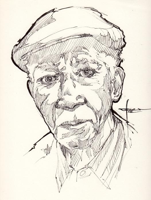 Ink-portrait-004 by mekhz
