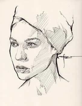 Ink-portrait-009 by mekhz