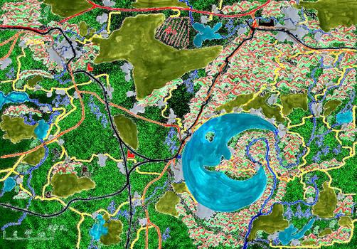 Karte: Hinterfoehren am Halbmondsee