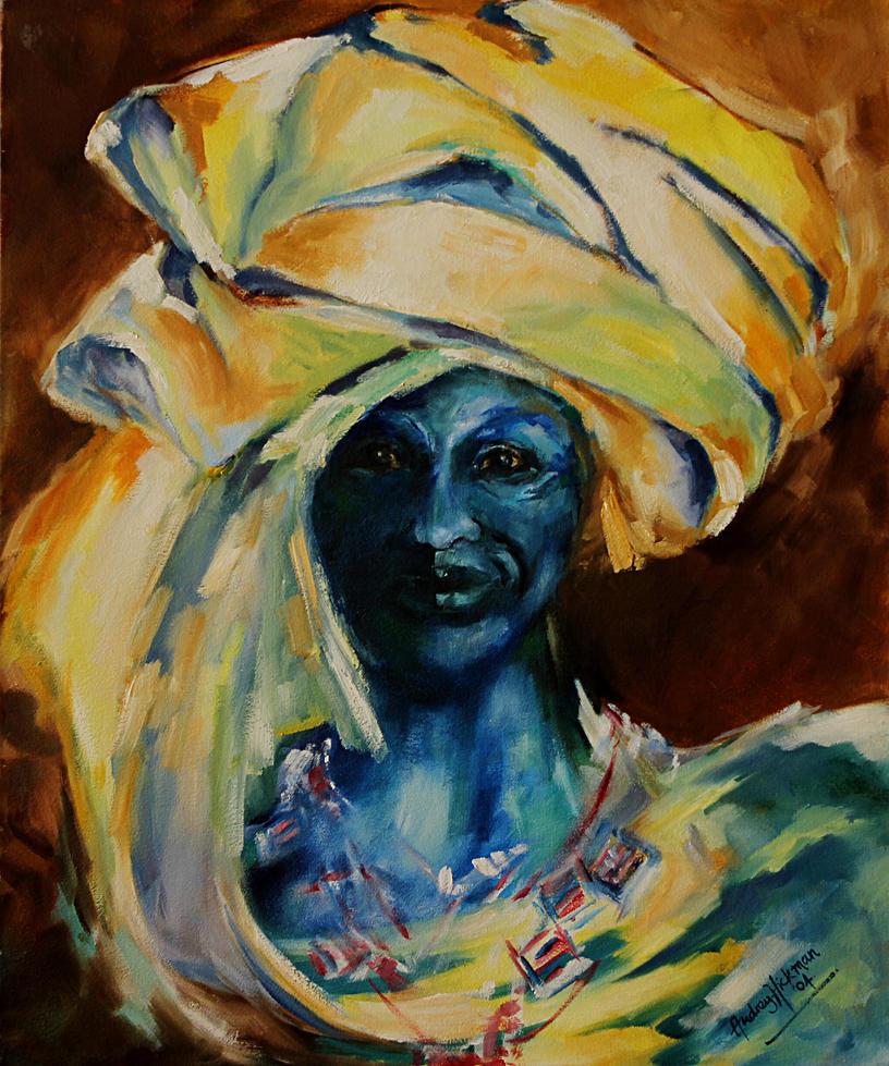 Blue Lady. by AudreyHaywardHickman