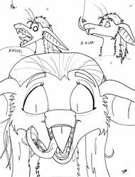 100 Faces Challange 13 - 15 by pezwolf