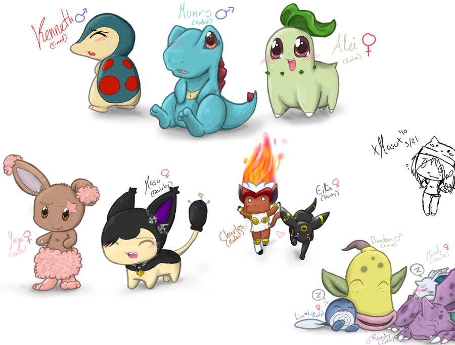 Pokemon Doodles by xXxMasumixXx
