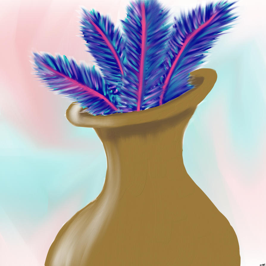Feathers In A Vase by cosartmic