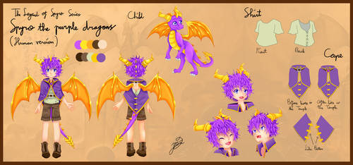 Human Version of Young Spyro