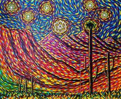 Desert Moonrise (triptych) by lamPkin
