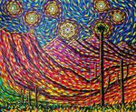 Desert Moonrise (triptych)