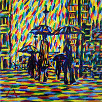 Rainy Street by lamPkin