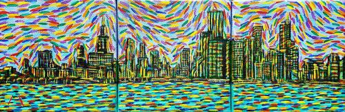 Skyline Triptych by lamPkin