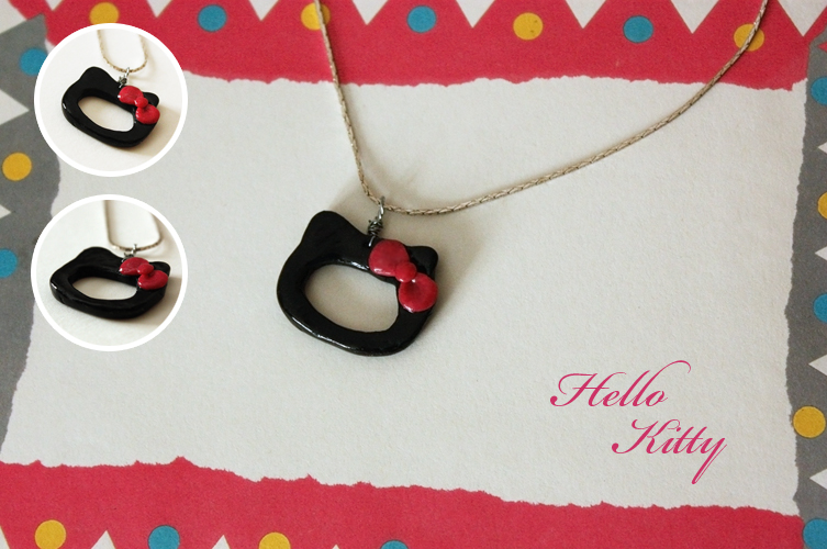 Hello Kitty necklaces by koshadesing