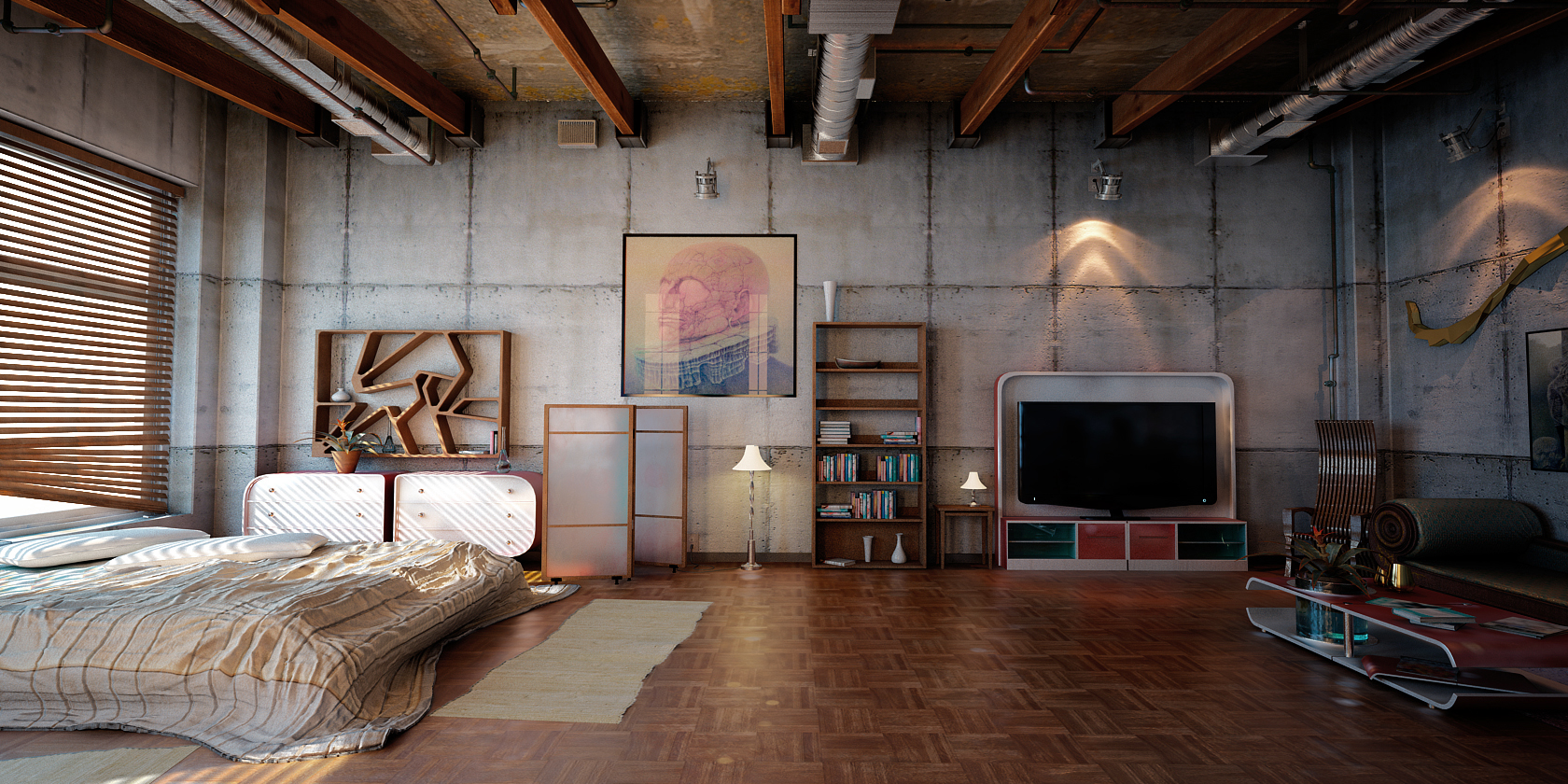 Industrial loft 2 by denisvema on deviantart for 1 loft