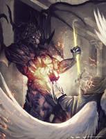 Demon vs Celestial by TSRodriguez