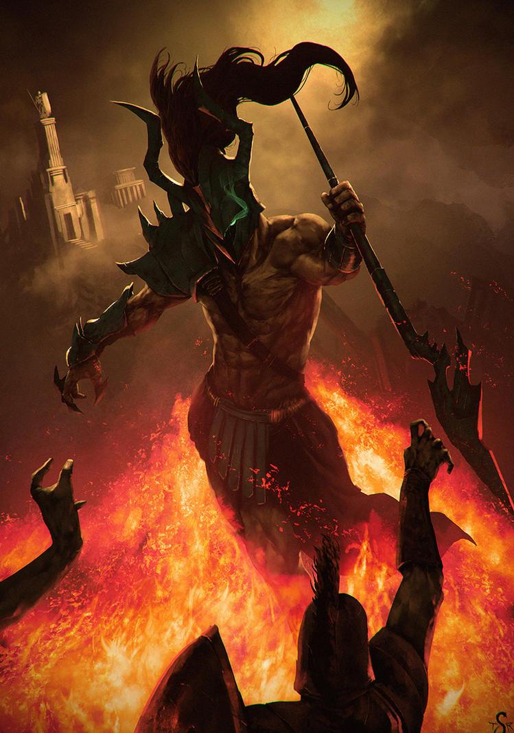 Deimos God of Fear by Shev14th
