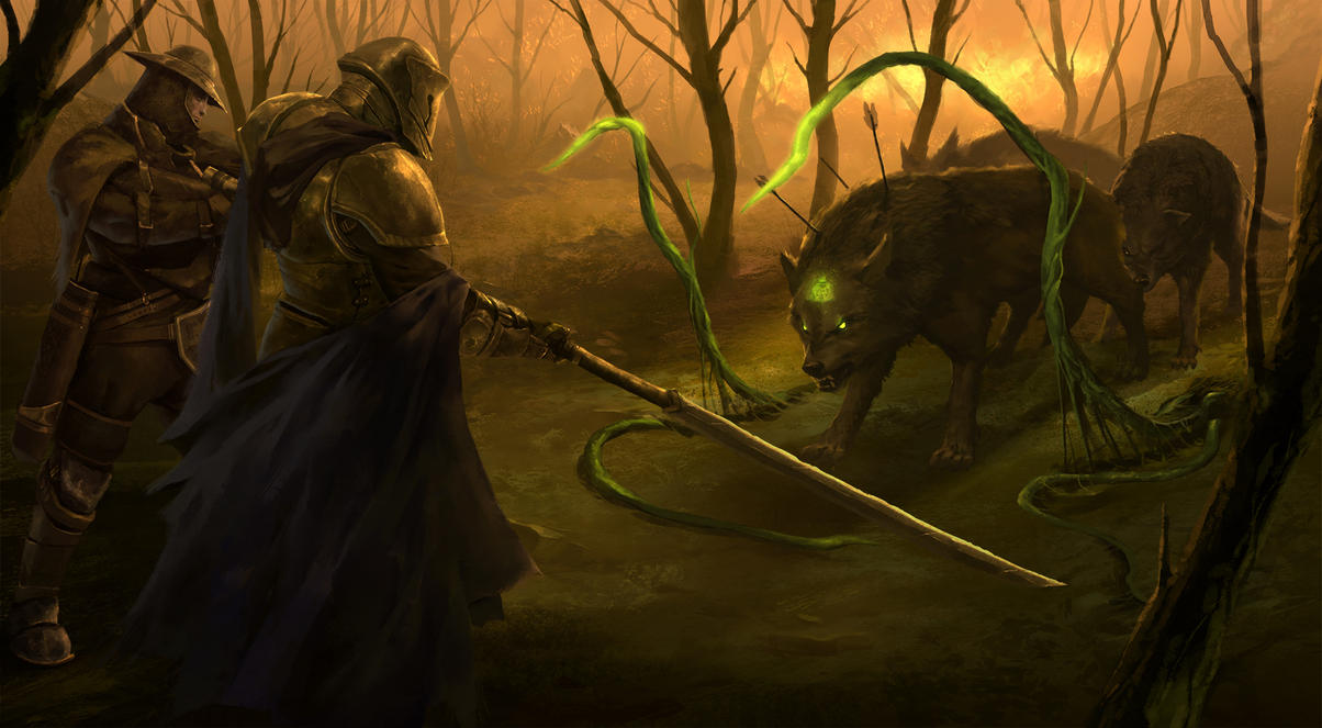Wolves and Hunters by TSRodriguez