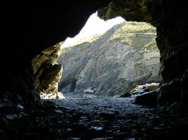 Tintagel Cave by xKenren