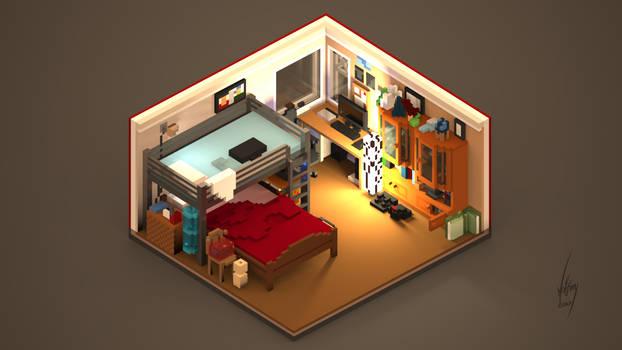 My room in Voxels (+Video)