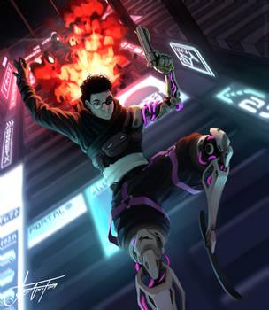 Cyberpunk heist by WolFirry