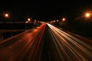 Motorway at night by Rikko40