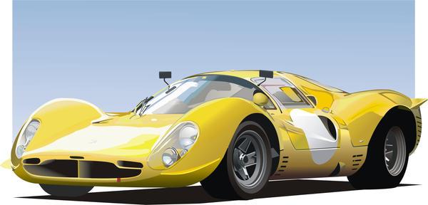 Sixties sports car by Rikko40