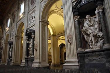 Apostols statues in San Giovanni Laterano basilica