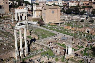 Forum Romanum seen from Palatine hill