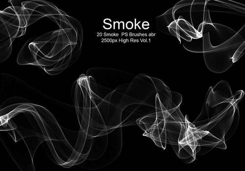 20 Smoke PS Brushes abr. Vol1