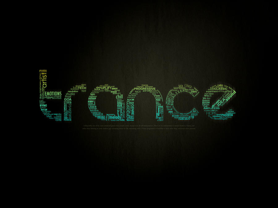 Trance Typographic Wal...