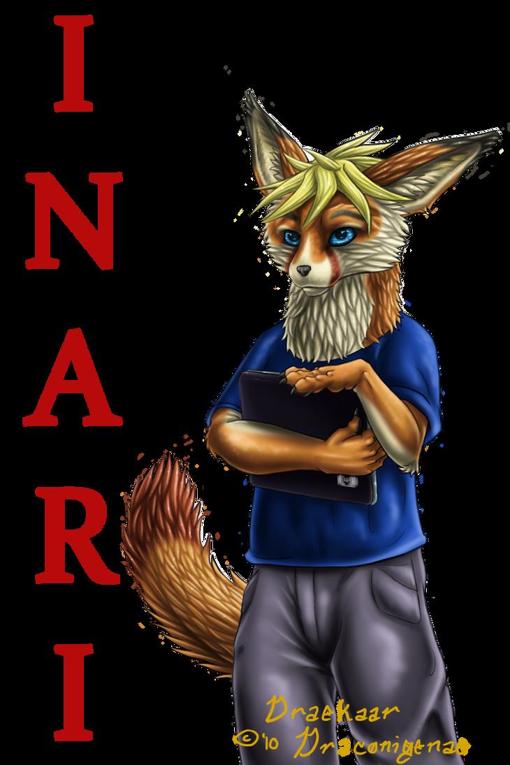 Inari the fox badge by Draconigenae666